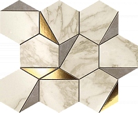 MARVEL Gold Hex Gris-Calacatta. Мозаика (25,1x29)