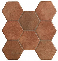Pav HEXAGONAL CASTILLA MARRON. Напольная плитка (37,2x38,8)
