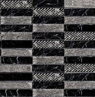 Greek Negro Marquina. Мозаика (29,6x29,6)